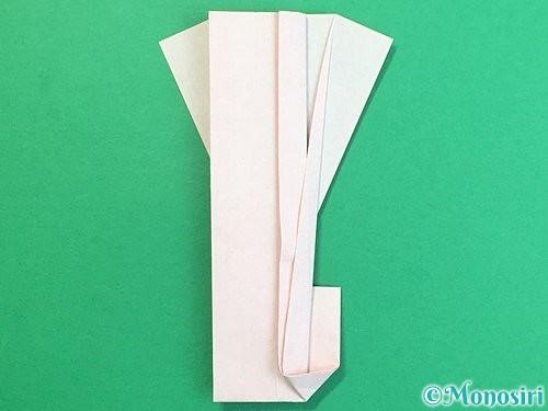 折り紙で羽子板と羽根の折り方手順45