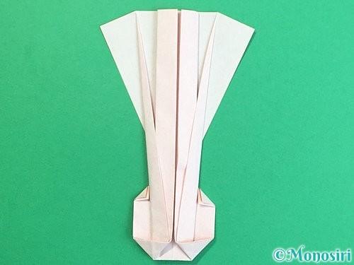 折り紙で羽子板と羽根の折り方手順48