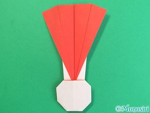 折り紙で羽子板と羽根の折り方手順49