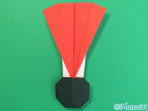 折り紙で羽子板と羽根の折り方手順50