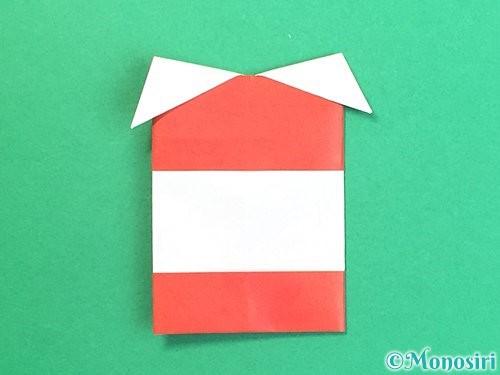 折り紙で獅子舞いの折り方手順31