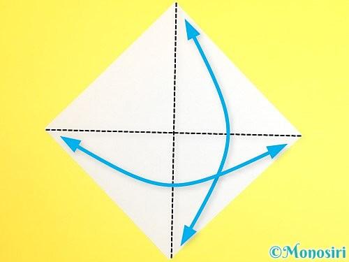 折り紙で門松の折り方手順1