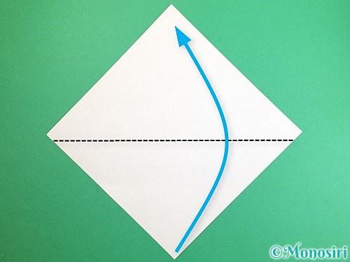折り紙でポチ袋の折り方手順1