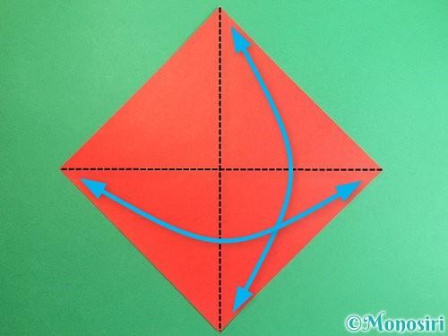 折り紙で鶴のポチ袋の折り方手順1