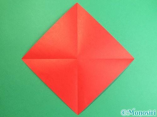 折り紙で鶴のポチ袋の折り方手順2