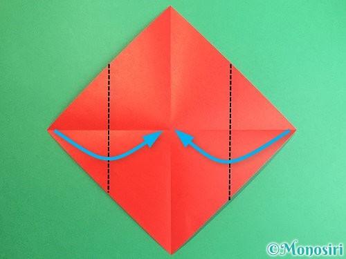 折り紙で鶴のポチ袋の折り方手順3
