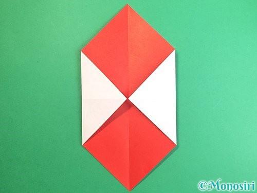 折り紙で鶴のポチ袋の折り方手順4
