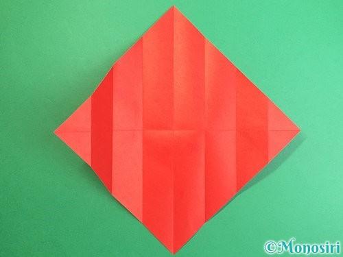 折り紙で鶴のポチ袋の折り方手順7