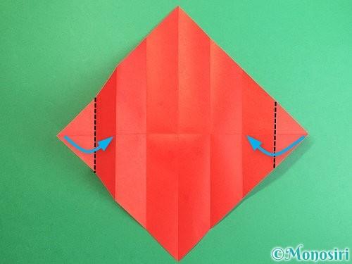 折り紙で鶴のポチ袋の折り方手順8