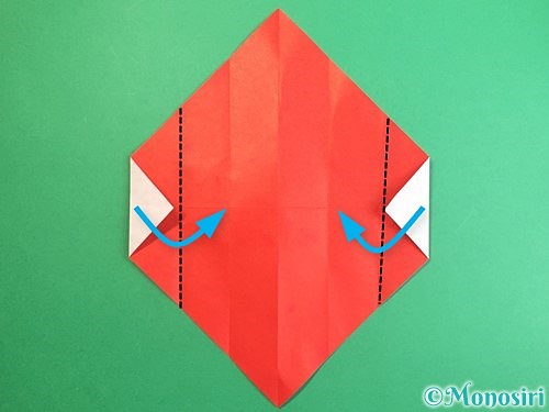 折り紙で鶴のポチ袋の折り方手順10