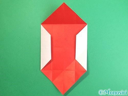 折り紙で鶴のポチ袋の折り方手順15