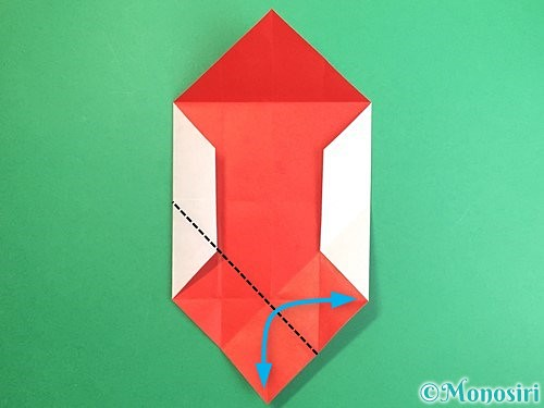 折り紙で鶴のポチ袋の折り方手順16