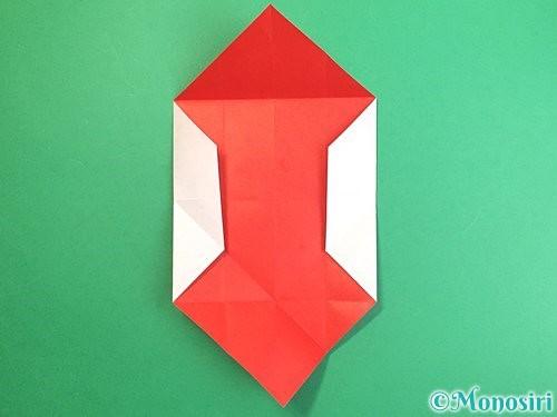 折り紙で鶴のポチ袋の折り方手順17