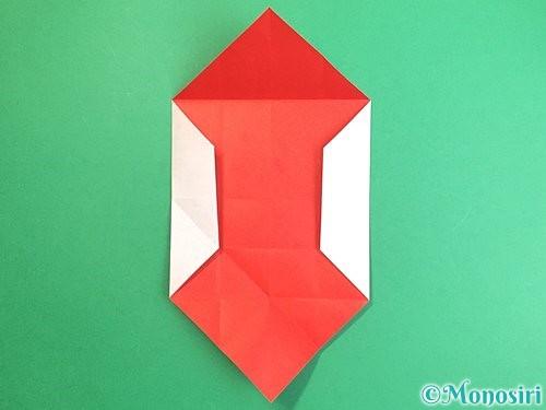 折り紙で鶴のポチ袋の折り方手順19