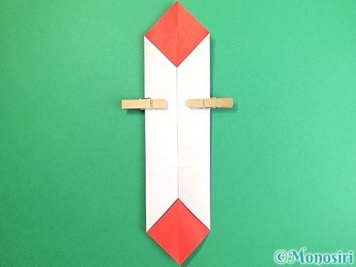 折り紙で鶴のポチ袋の折り方手順21