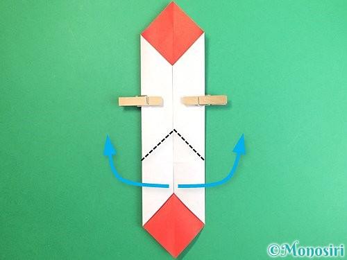 折り紙で鶴のポチ袋の折り方手順22