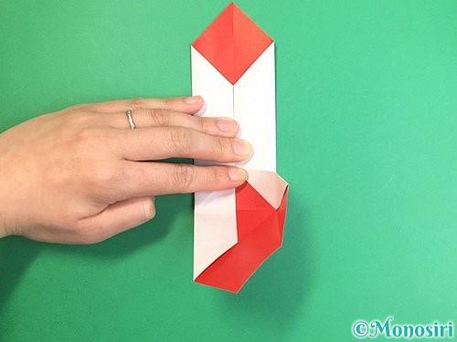 折り紙で鶴のポチ袋の折り方手順24