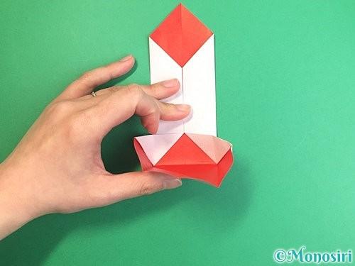 折り紙で鶴のポチ袋の折り方手順25