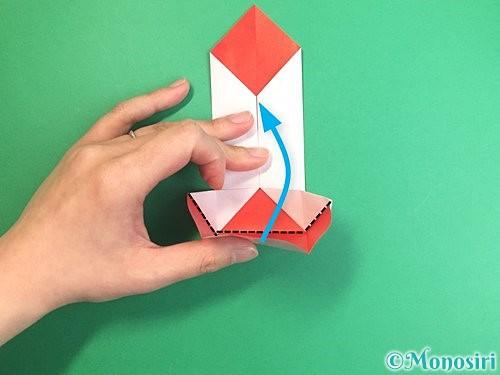 折り紙で鶴のポチ袋の折り方手順26