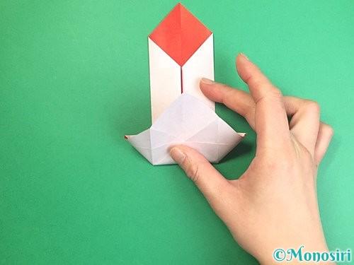 折り紙で鶴のポチ袋の折り方手順27