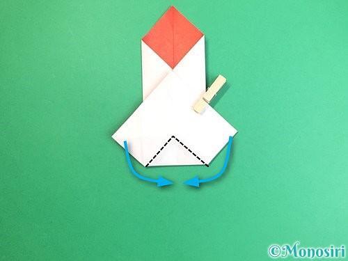 折り紙で鶴のポチ袋の折り方手順29