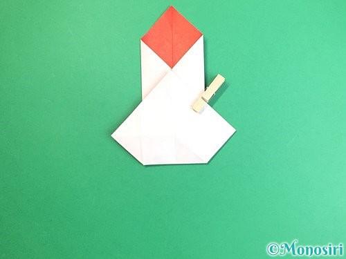 折り紙で鶴のポチ袋の折り方手順28