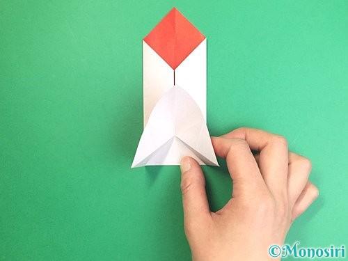 折り紙で鶴のポチ袋の折り方手順30