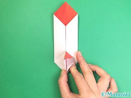 折り紙で鶴のポチ袋の折り方手順31