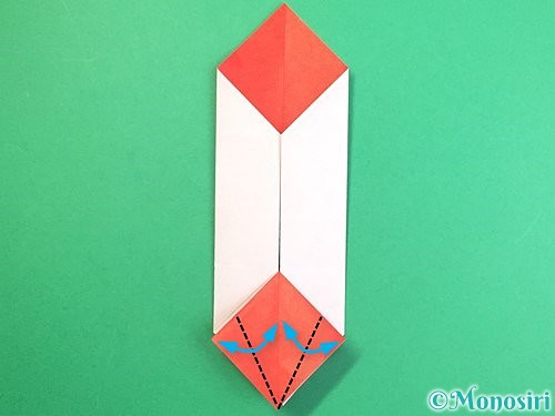 折り紙で鶴のポチ袋の折り方手順34
