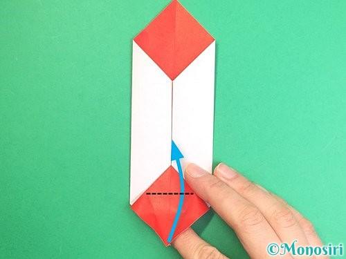 折り紙で鶴のポチ袋の折り方手順36