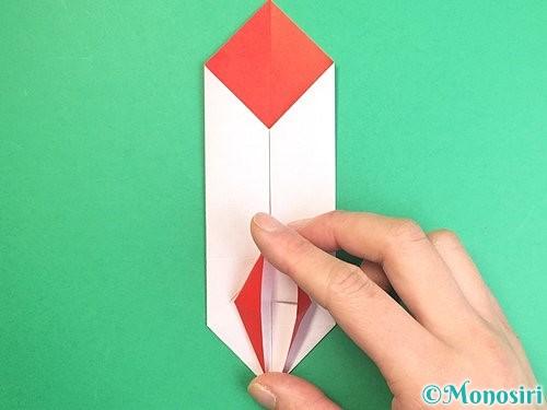 折り紙で鶴のポチ袋の折り方手順37