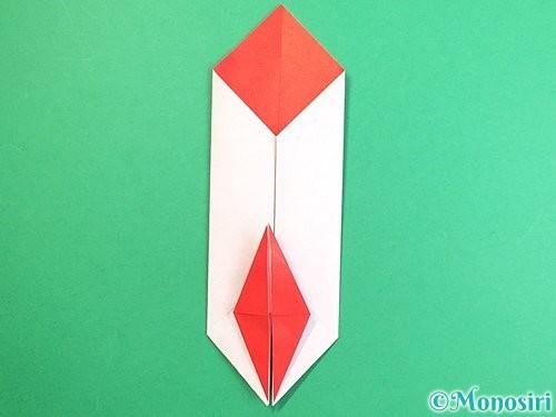 折り紙で鶴のポチ袋の折り方手順38