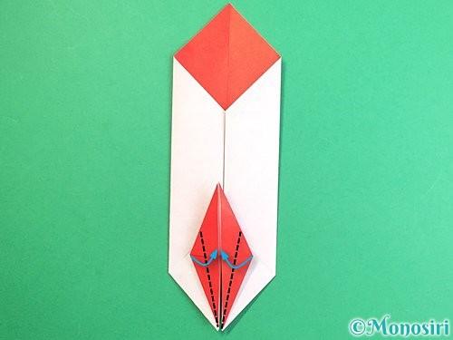 折り紙で鶴のポチ袋の折り方手順39