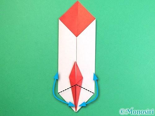 折り紙で鶴のポチ袋の折り方手順41