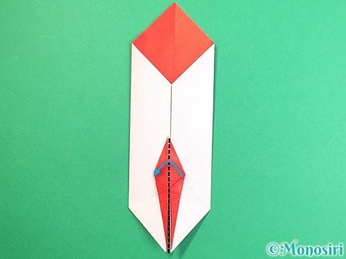 折り紙で鶴のポチ袋の折り方手順43