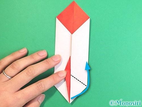 折り紙で鶴のポチ袋の折り方手順45