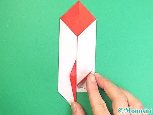 折り紙で鶴のポチ袋の折り方手順46