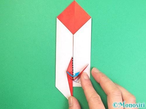 折り紙で鶴のポチ袋の折り方手順47