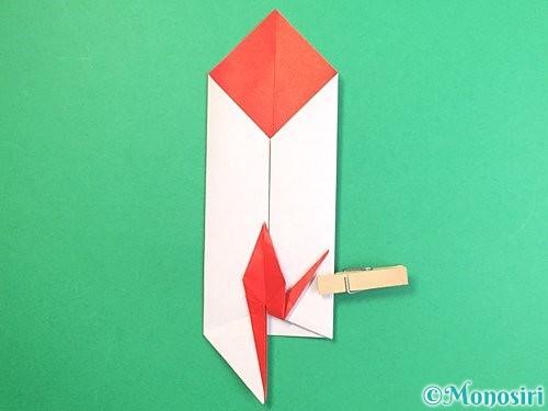 折り紙で鶴のポチ袋の折り方手順48