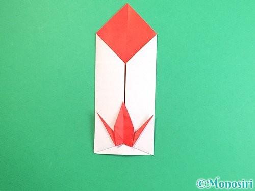 折り紙で鶴のポチ袋の折り方手順49