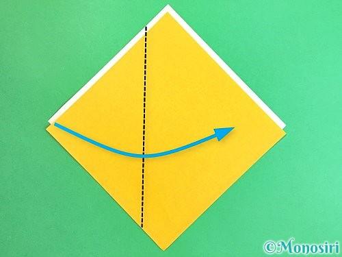 折り紙で箸袋の折り方手順3