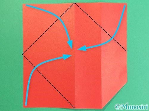 折り紙で鶴の箸袋の折り方手順8