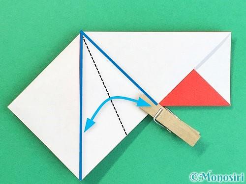 折り紙で鶴の箸袋の折り方手順23