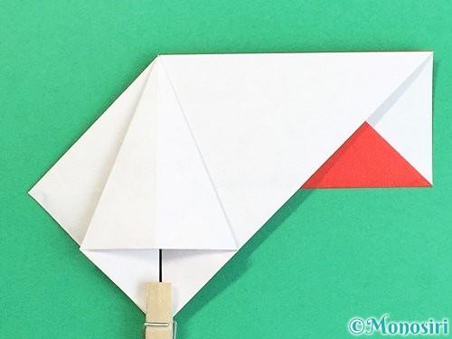 折り紙で鶴の箸袋の折り方手順27