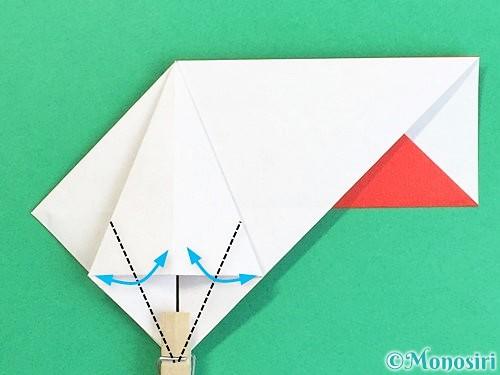 折り紙で鶴の箸袋の折り方手順28