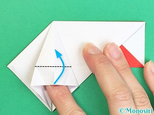 折り紙で鶴の箸袋の折り方手順30