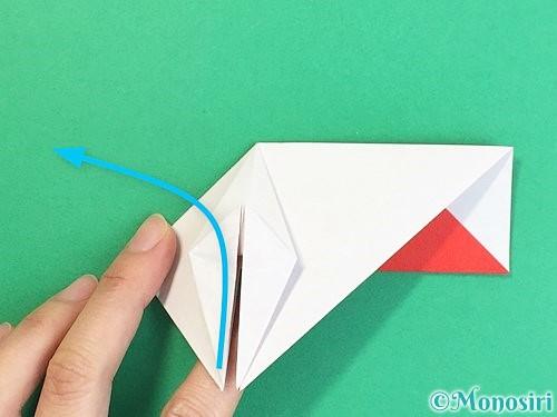 折り紙で鶴の箸袋の折り方手順33