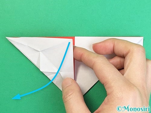 折り紙で鶴の箸袋の折り方手順36