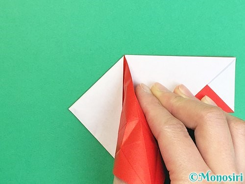 折り紙で鶴の箸袋の折り方手順40