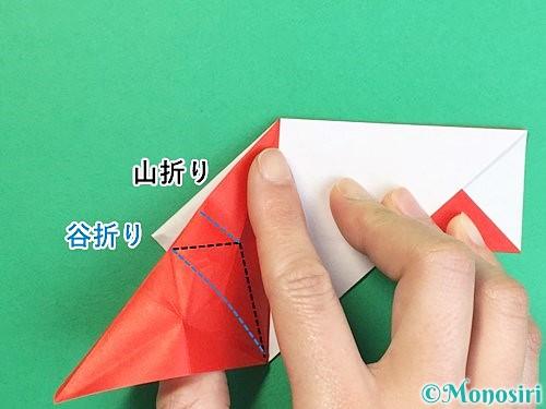 折り紙で鶴の箸袋の折り方手順42